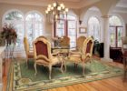 how big area rug under dining table for dining room