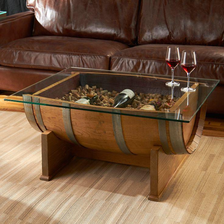 kosas home hamshire wooden barrel coffee table