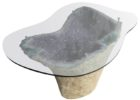 large amethyst geode coffee table