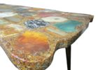 large rectangle citrine geode coffee table