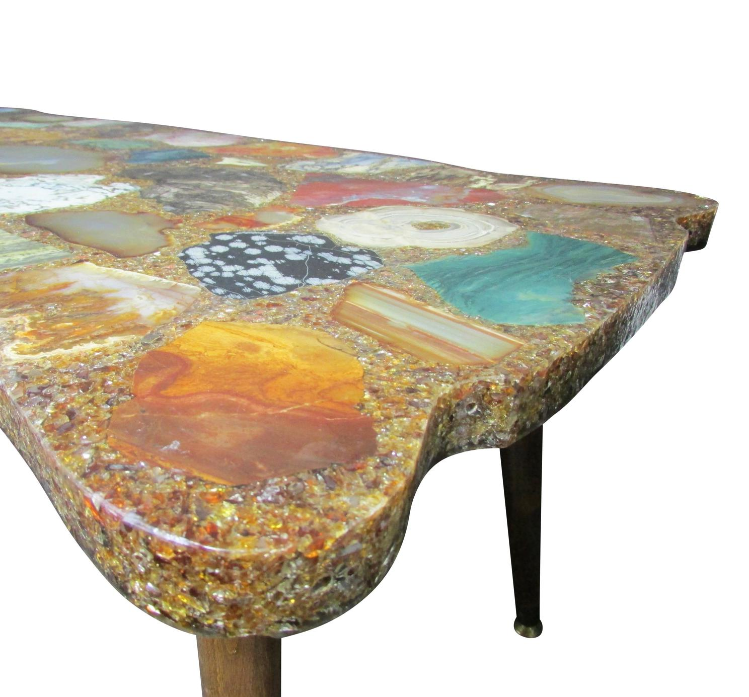Large Rectangle Citrine Geode Coffee Table Raysa House
