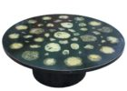 large round black geode coffee table