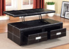leather black coffee tables that lift up