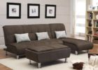 leather black cushion coffee table with storage sets