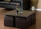 leather ottoman cushion coffee table with storage