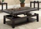 leather top coffee tables that lift up