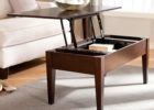 lift top dark wood coffee table set for sale