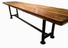 long narrow dining table with bench designs