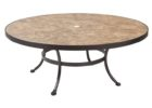 low round outdoor coffee table with umbrella hole