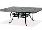 low square outdoor coffee table with umbrella hole