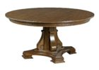 maple wood 60 inch round pedestal dining table