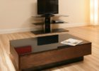 modern black glass tv stand and coffee table set