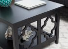modern black quatrefoil coffee table