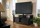 modern black tv stand and coffee table set