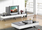 modern black white tv stand and coffee table set furniture
