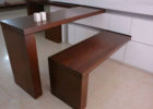 modern fold narrow dining table with bench