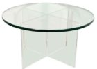 modern glass 30 inch round coffee table
