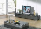 modern glass tv stand and coffee table set