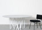 modern round octopus coffee table white