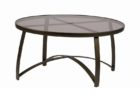 modern round outdoor coffee table with umbrella hole