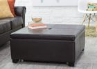 modern square cushion coffee table with storage