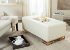 modern white gold coffee table tray legs