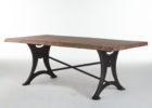 modern wood dining table with metal legs