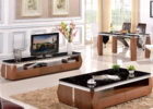modern wooden black tv stand and coffee table set