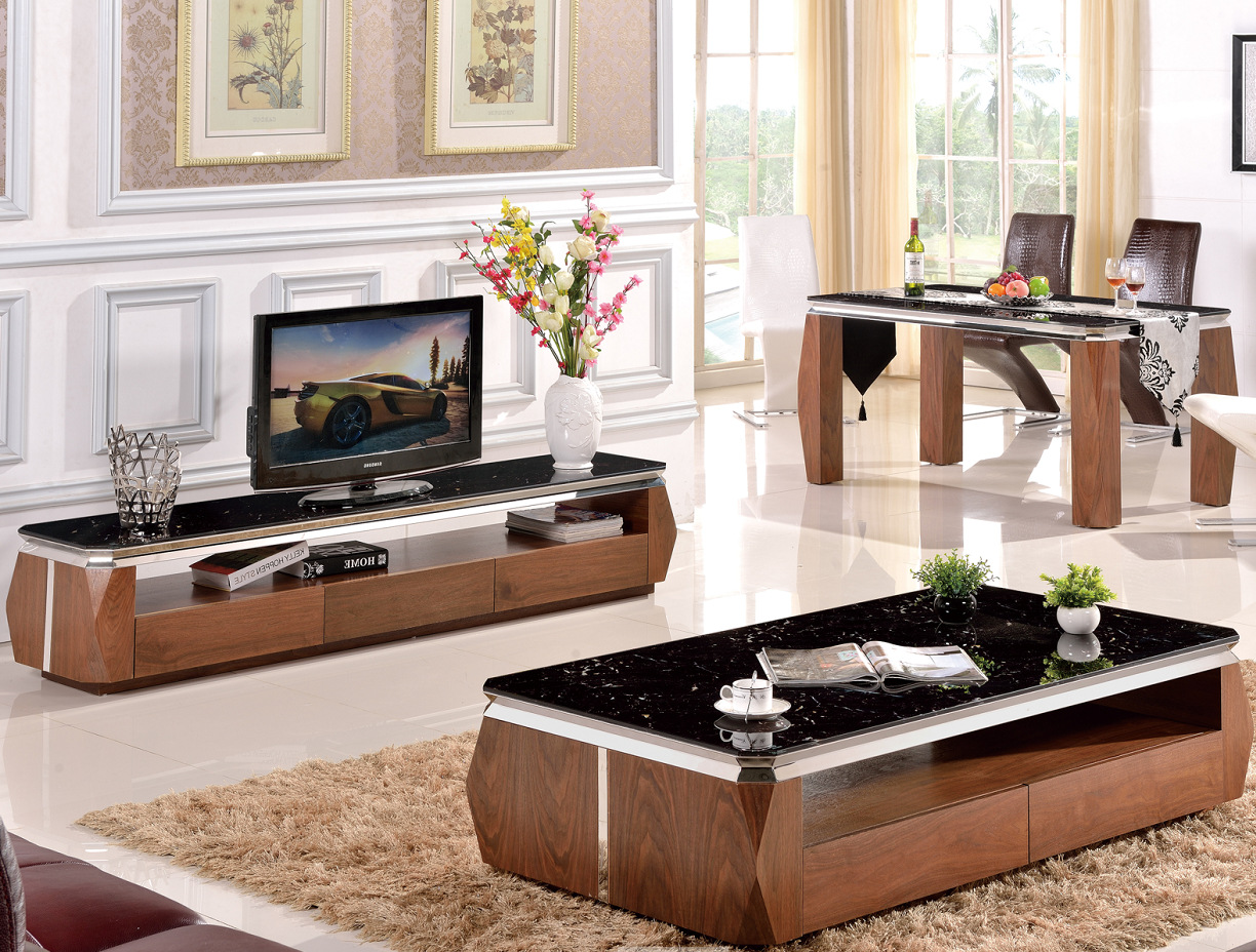 Modern wooden black tv stand and coffee table set raysa house modern wooden black tv stand and coffee table set geotapseo Image collections