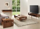 modern wooden oak tv stand and coffee table set