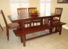 narrow dining table with bench designs