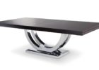 natural dark wood chrome and wood coffee table
