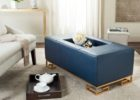 navy blue coffee table tray