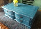 navy blue coffee table with drawers