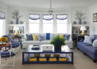 navy blue coffee table wth storage