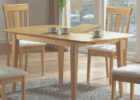 oak wood butterfly leaf dining table set