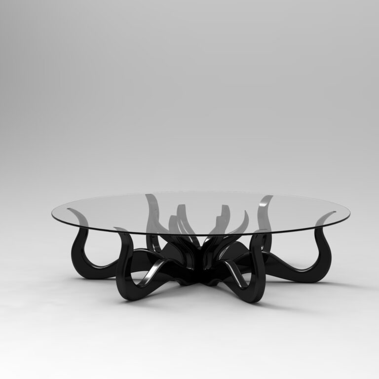 octopus coffee table black