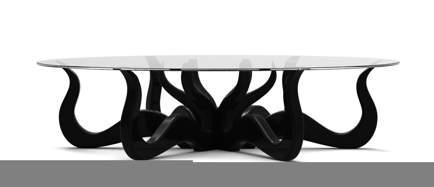 octopus coffee table with glass on top
