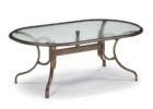 outdoor coffee table with umbrella hole with glass on top