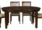oval black solid wood butterfly leaf dining table set