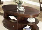 oval coffee table sets drawers