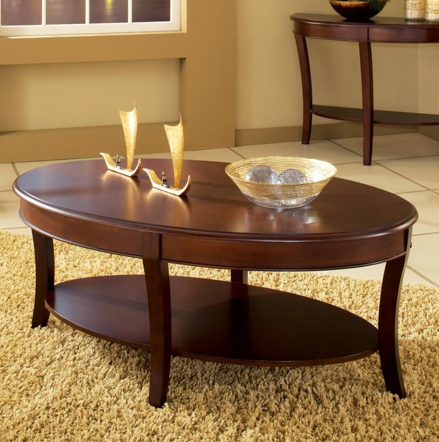 oval coffee table sets espresso