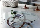 oval coffee table sets glass
