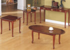 oval coffee table sets mid century