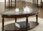 oval coffee table sets modern