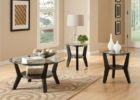oval coffee table sets small