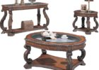 oval coffee table sets traditional