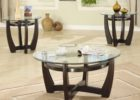 oval coffee table sets with glass top