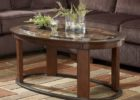 oval coffee table sets wood