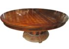 oval dining table pedestal base transition in espresso designs